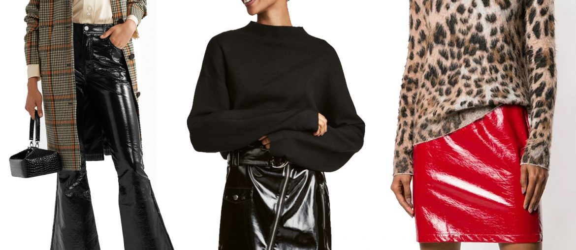 10 The Best Vinyl Skirts & Trousers To Style This Season