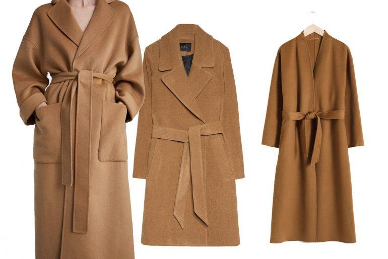 Top Camel Coats from high street shops