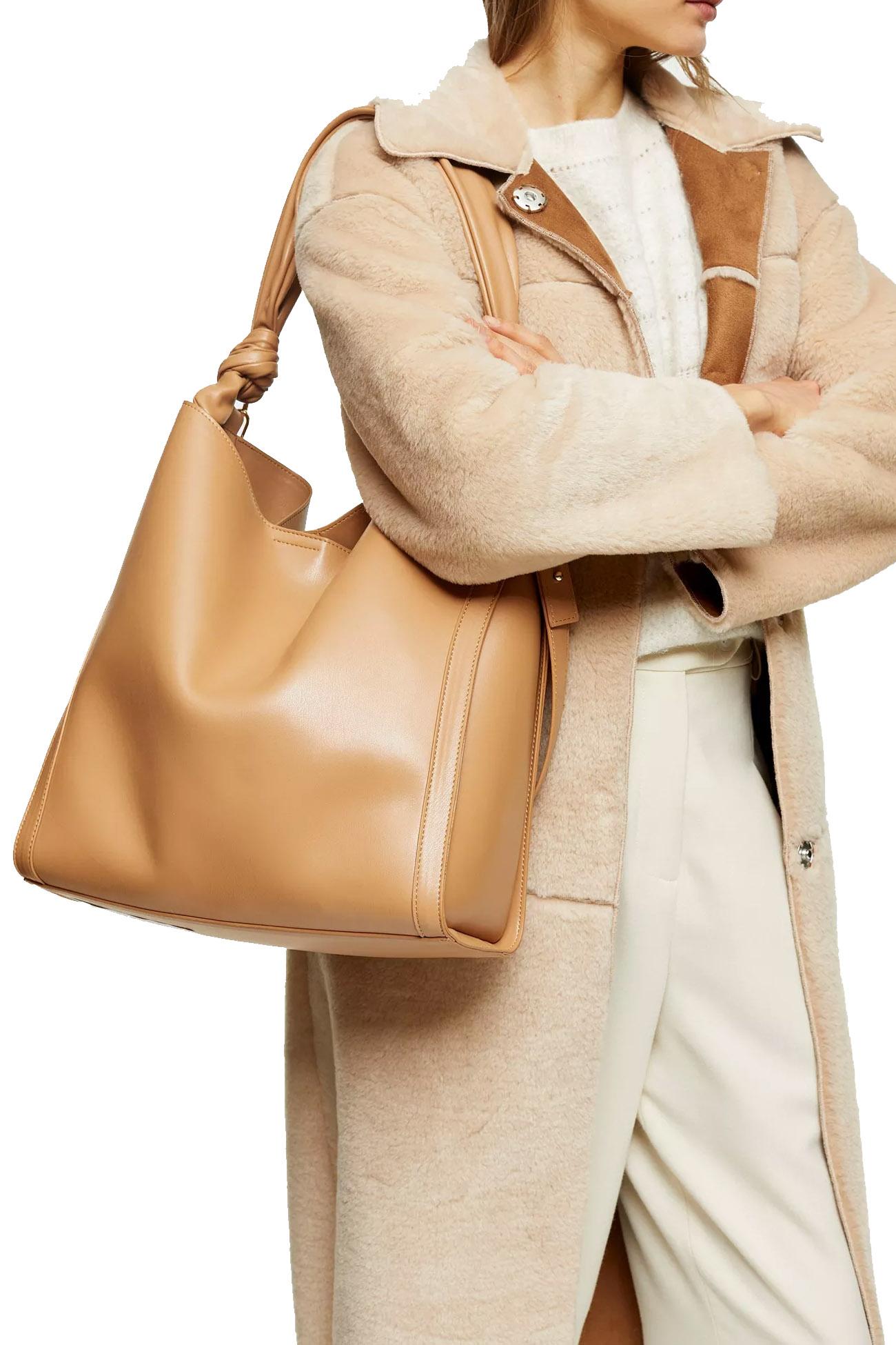 camel bag topshop