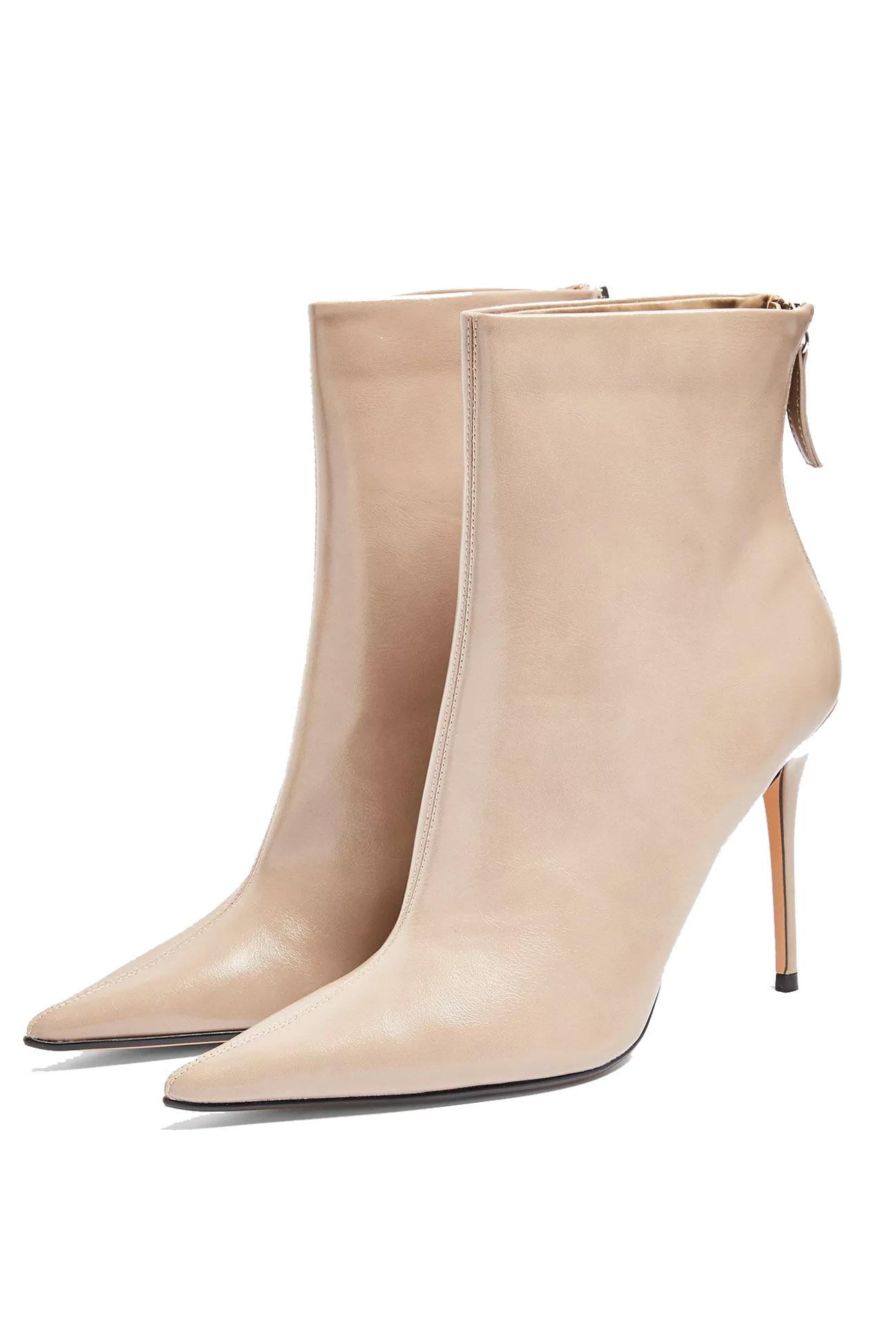 beige boots topshop