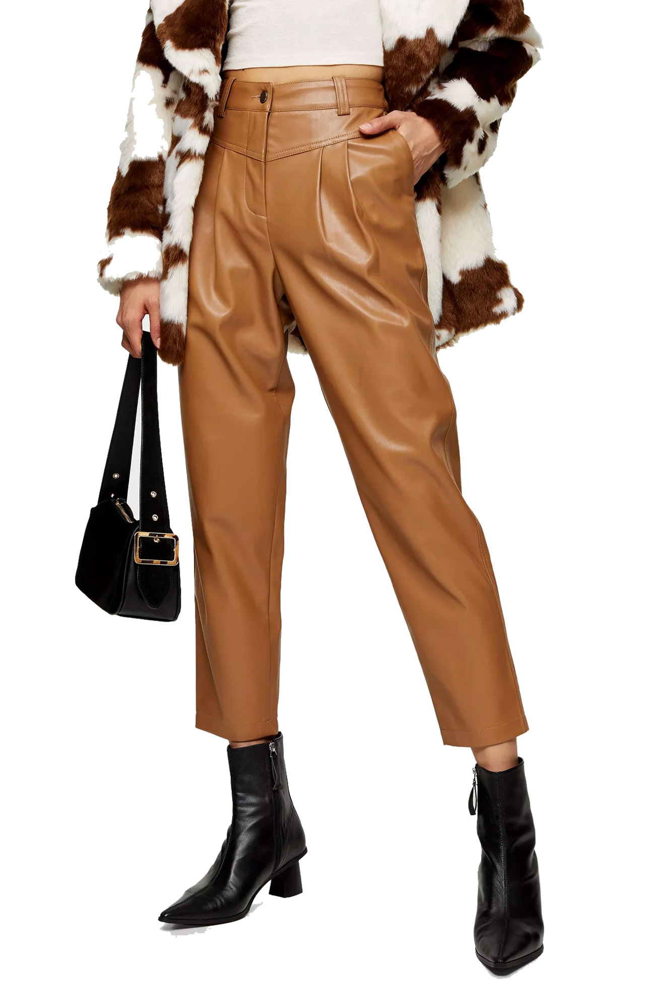 camel trousers topshop