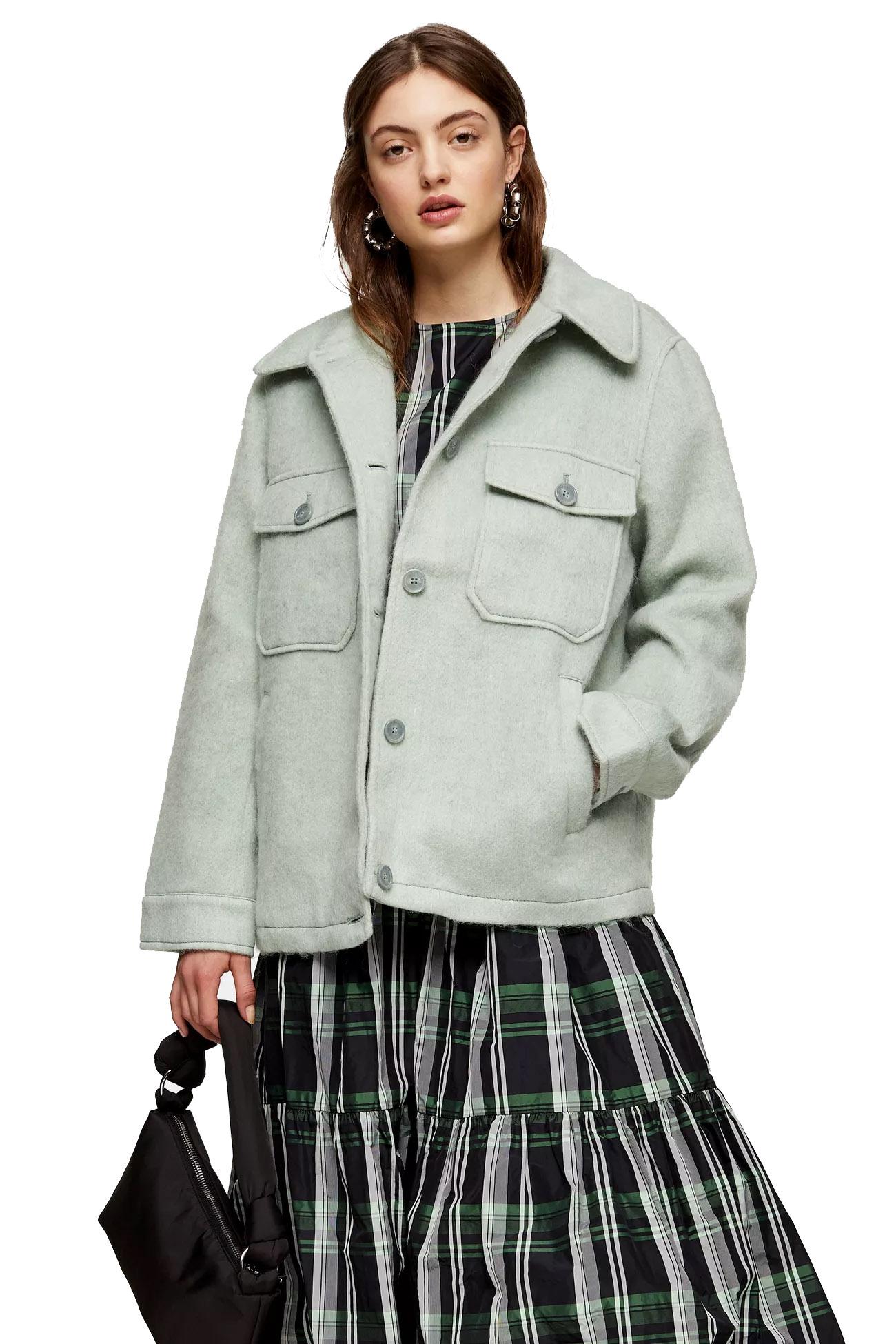 sage jacket topshop