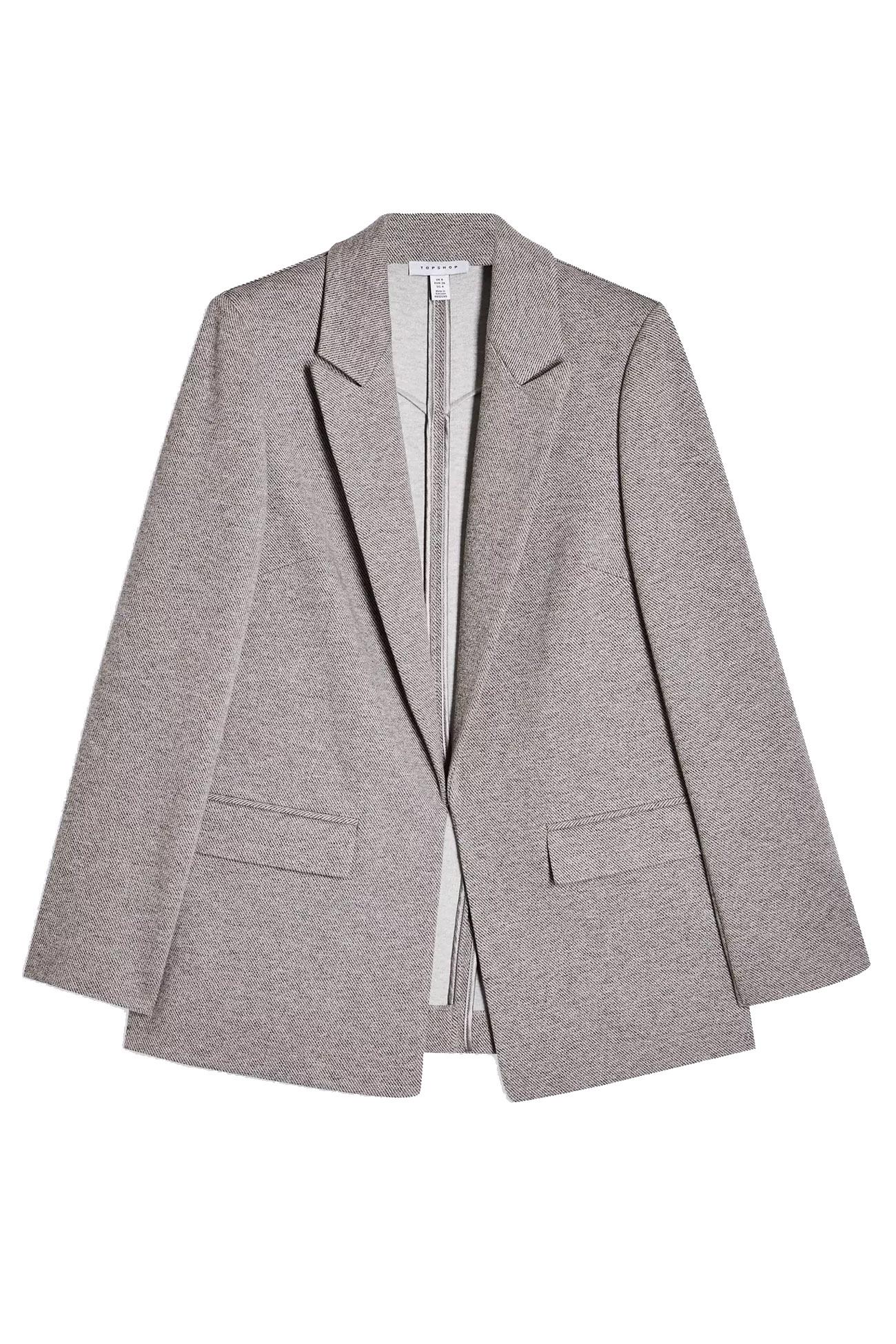 grey blazer topshop