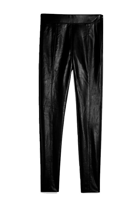 faux leather trousers topshop