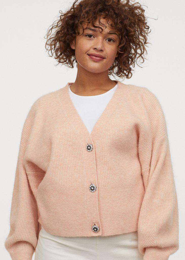 H&M apricot cardigan