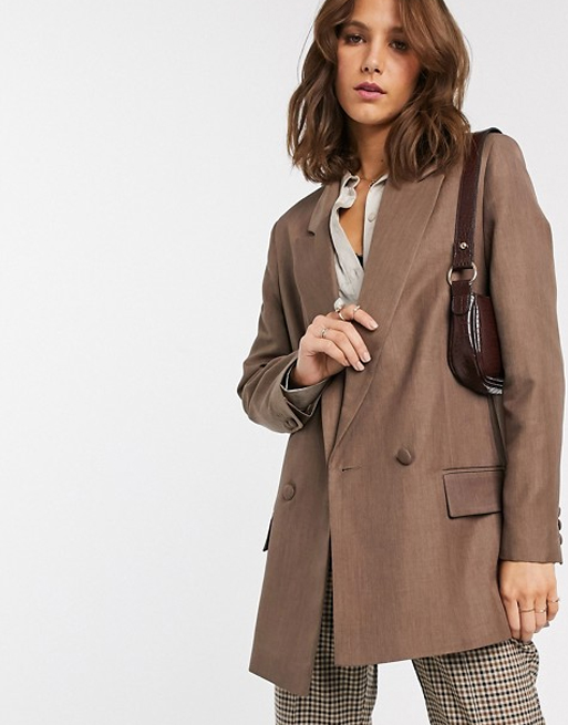 perfect design asos brown blazer