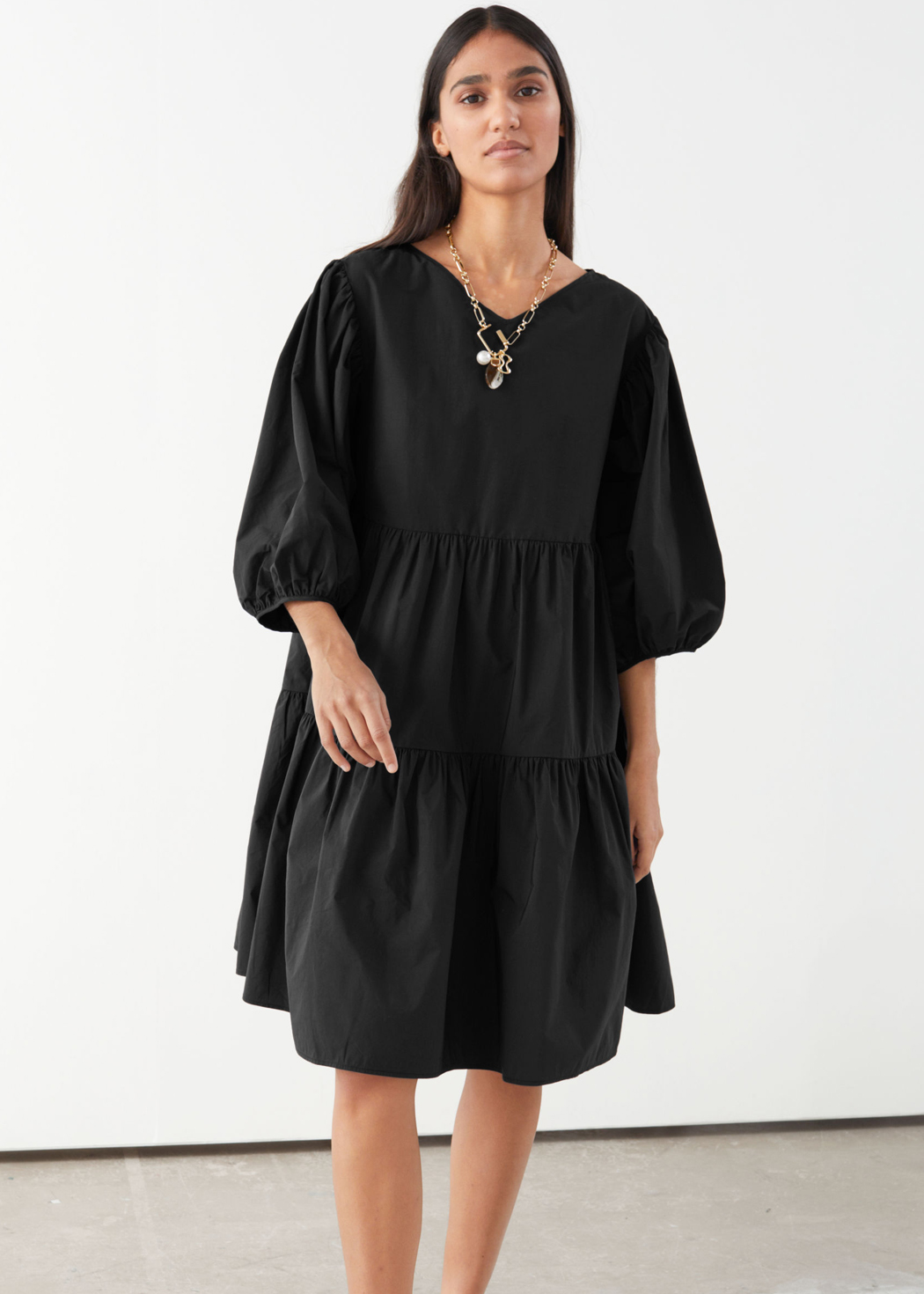 loose dress black