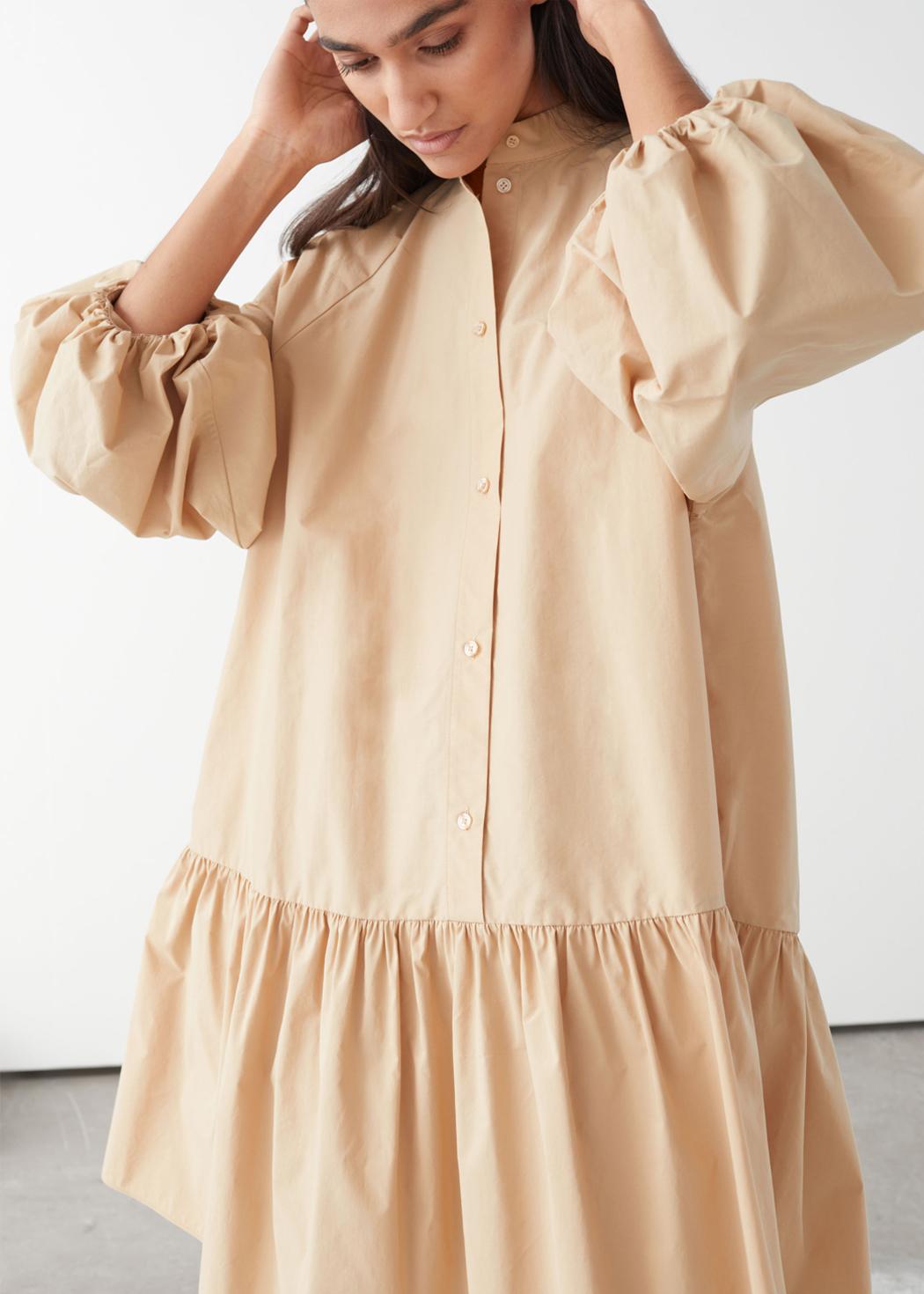 pugg sleeve midi dress