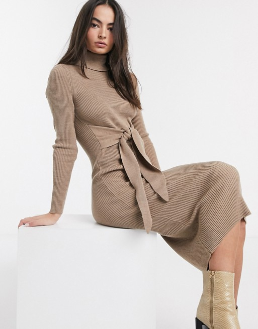 knit dress asos beige
