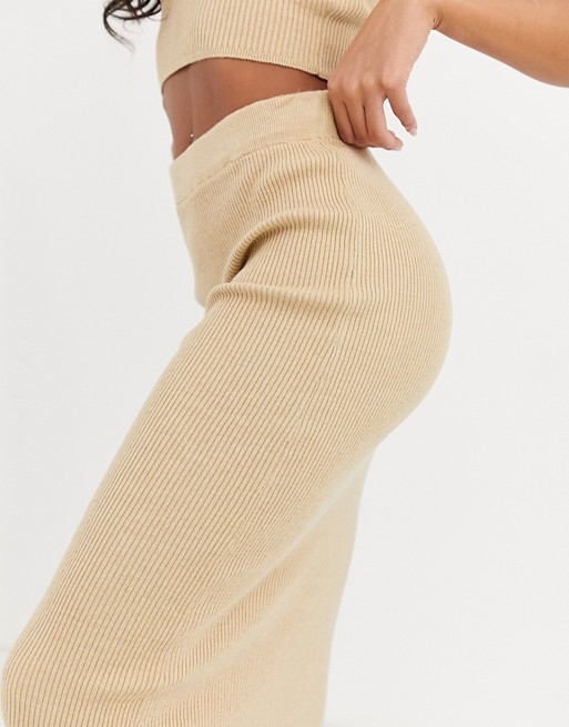 asos knit midi skirt