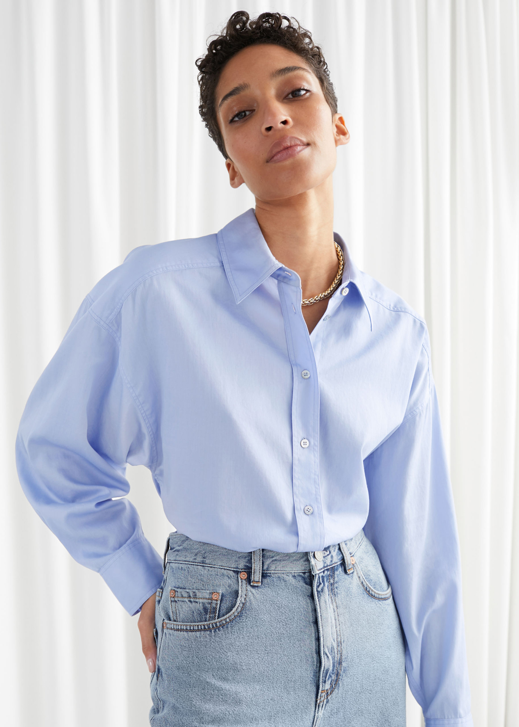 blue oversized shirt &otherstories