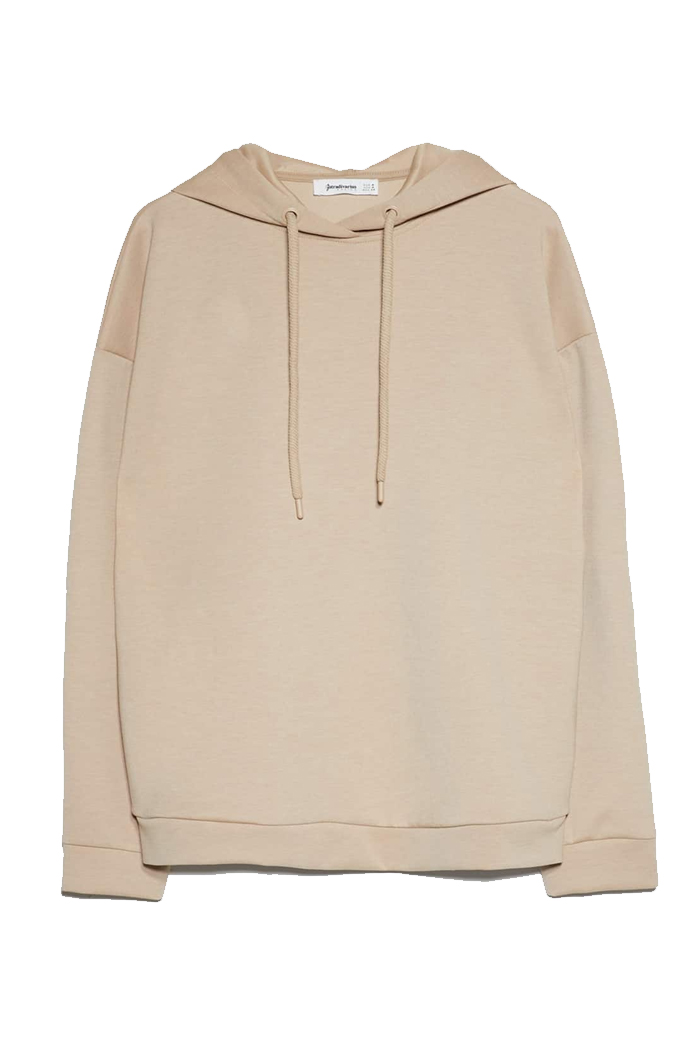 beige woman hoodie