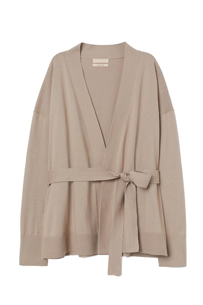 cashmere cardigan beige