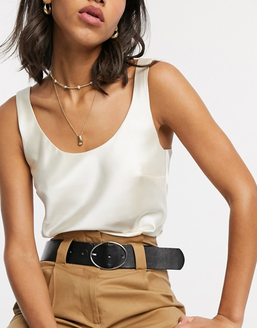 satin cami top asos