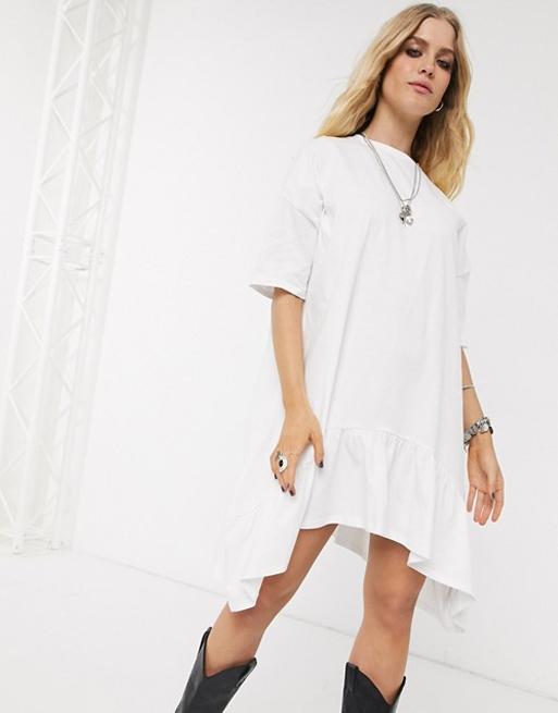 white mini dress asos