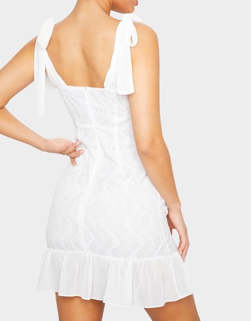 PLT mini white dress