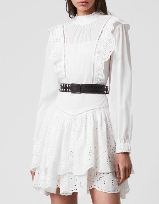 allsaints white dress