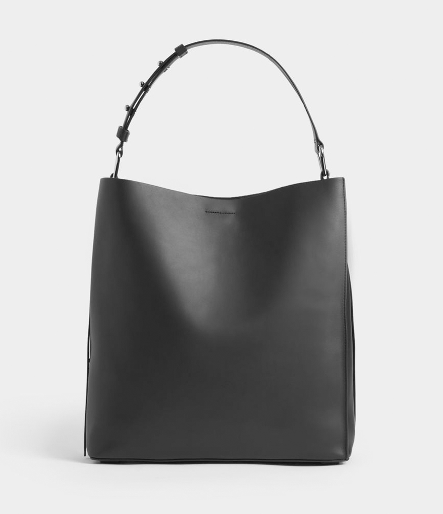 allsaints tote bag black