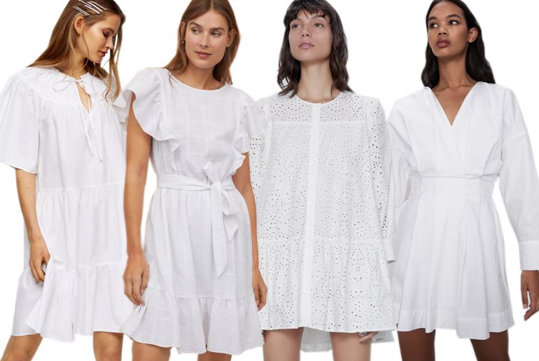 white dresses for summer 2020