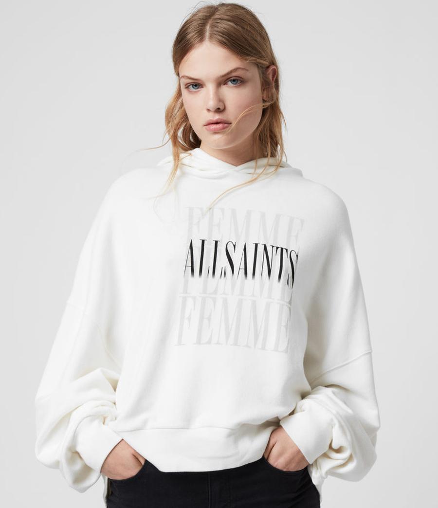allsaints white hoodie