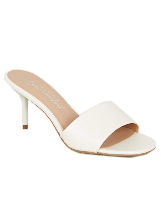 nude mule sandals