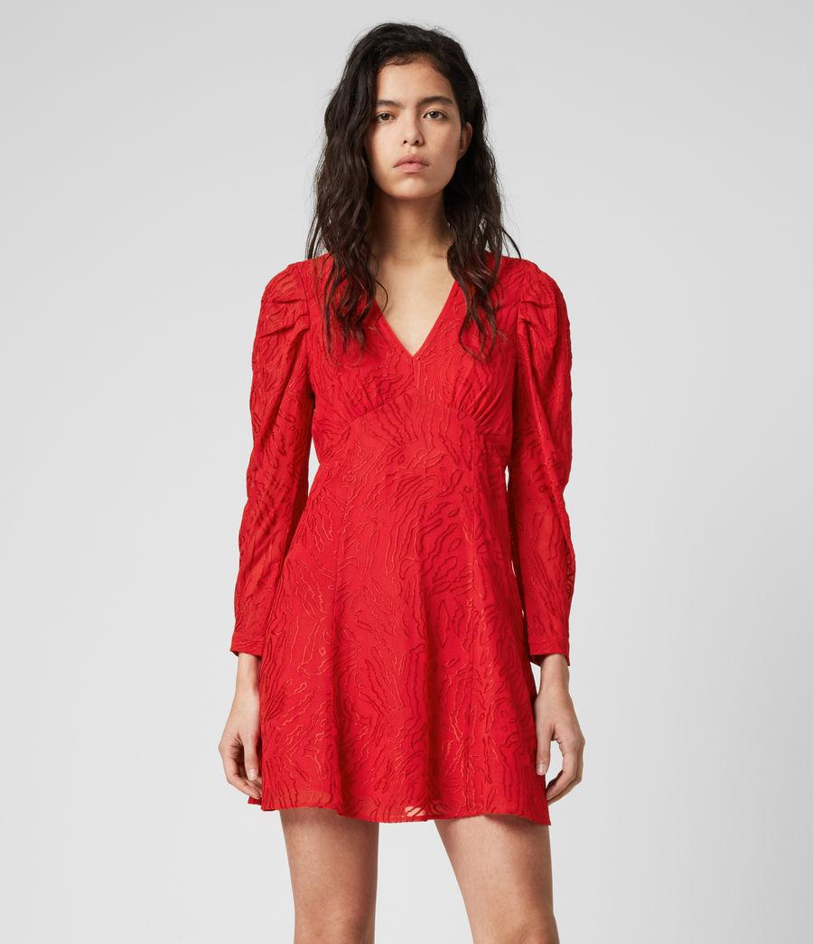 red dress allsaints