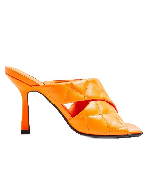 topshop orange mules