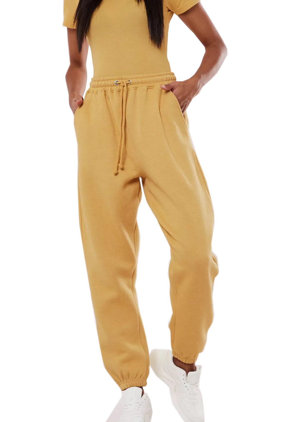 yellow joggers missguied
