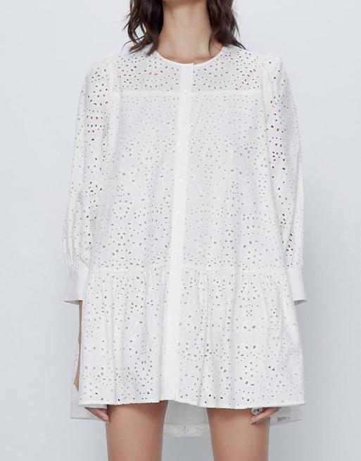 zara mini white dress