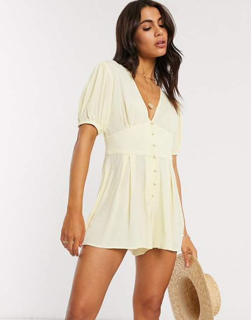 lemon playsuit asos