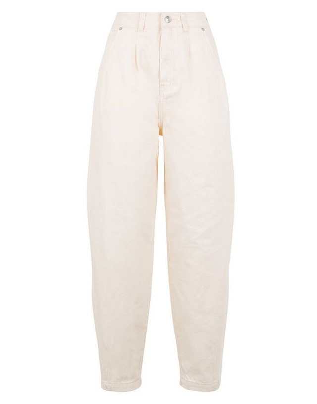 cream slouchy jeans