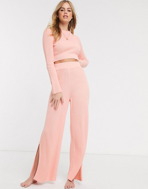 asos lounge set pink