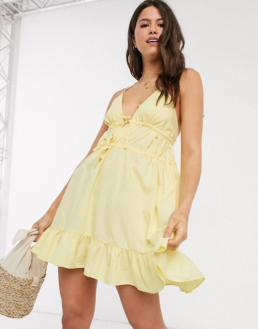 yellow cami dress asos