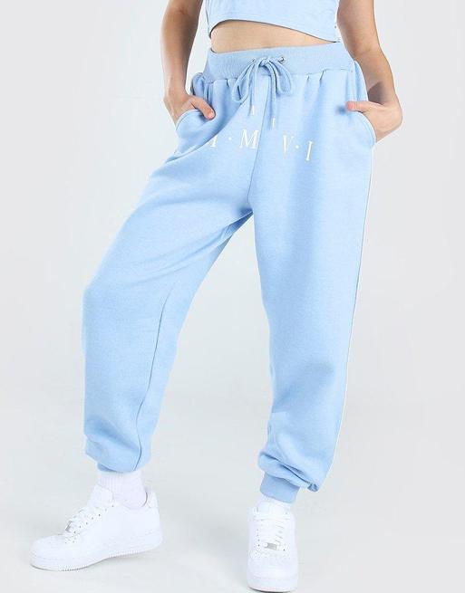 blue joggers boohoo
