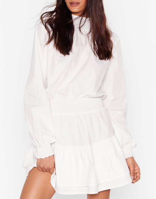 Nasty Gal white dress