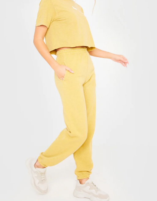 in the style yellow joggers