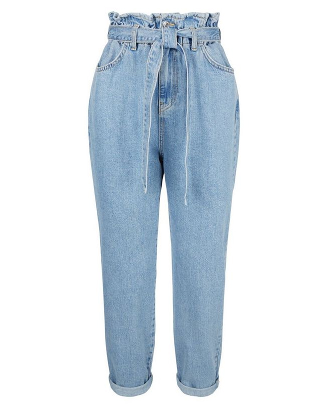 tie mom jeans new look