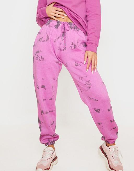 pink tie dye joggers