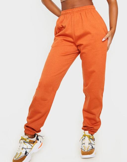 orange joggers plt