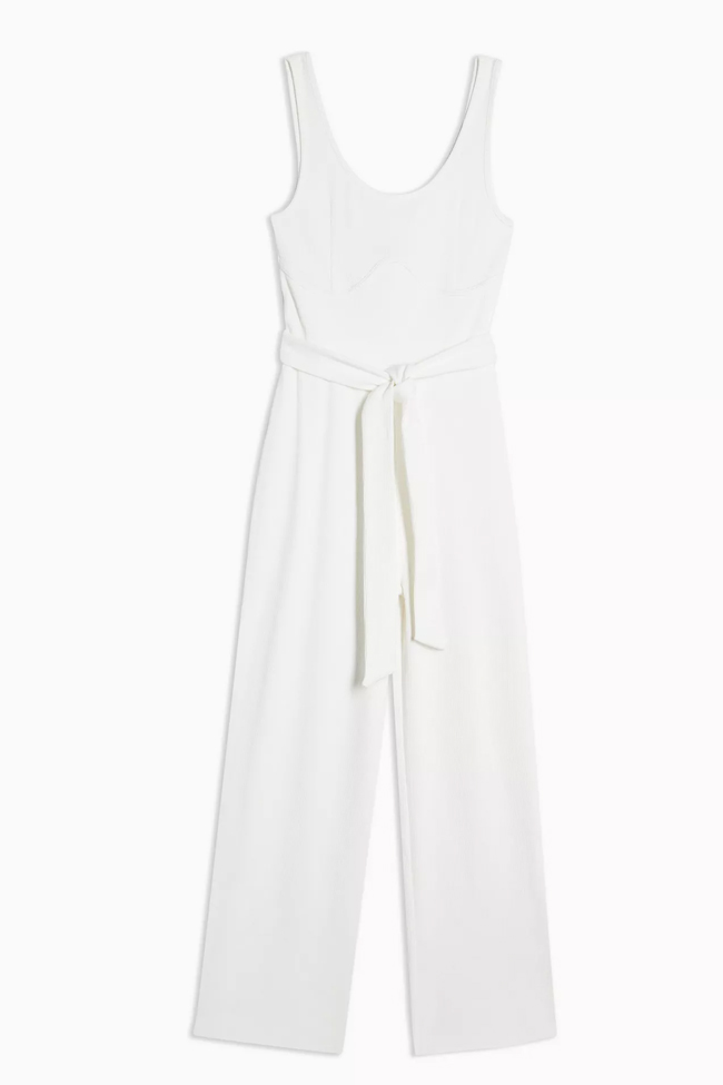white jumpsuit topshop