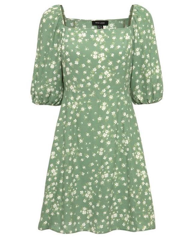 floral mini pastel dress