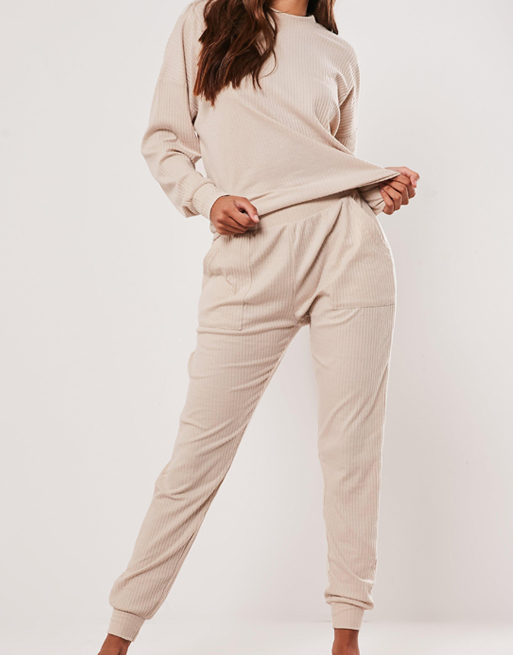beige tracksuit
