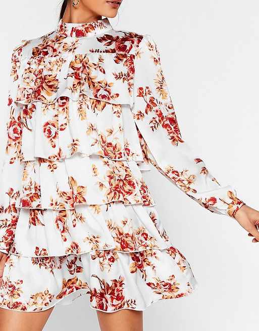 nasty gal floral dress