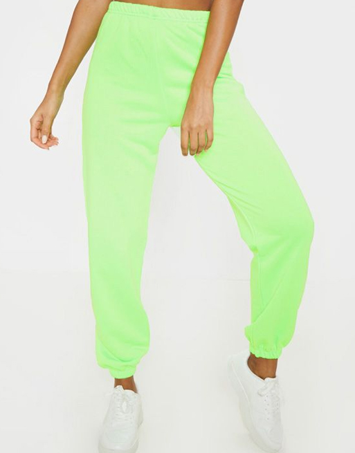 neon green joggers