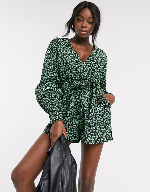 wrap playsuit asos