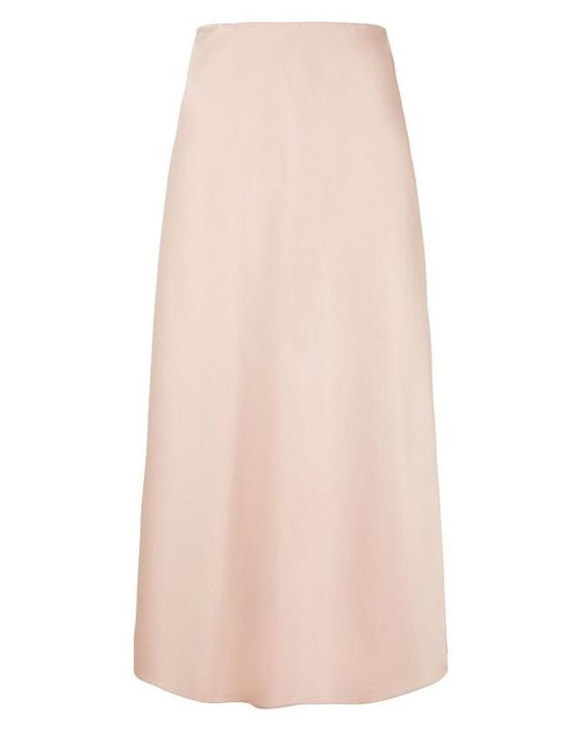 satin skirt new look