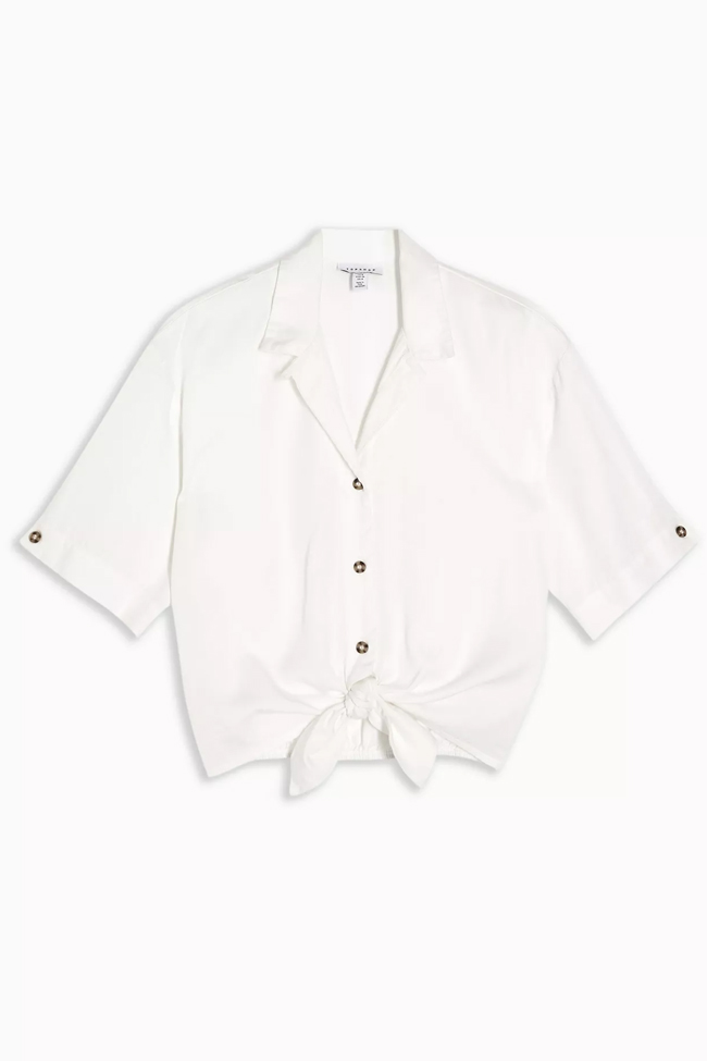 white knot shirt