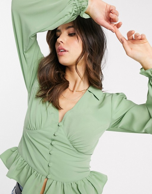 green tea blouse asos