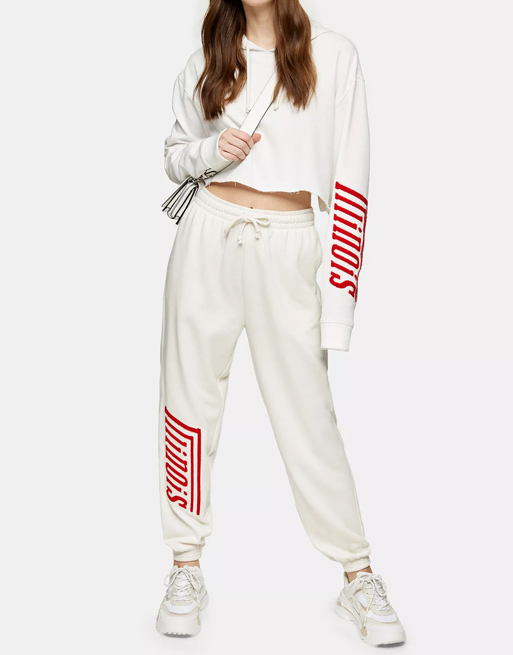 topshop white tracksuit