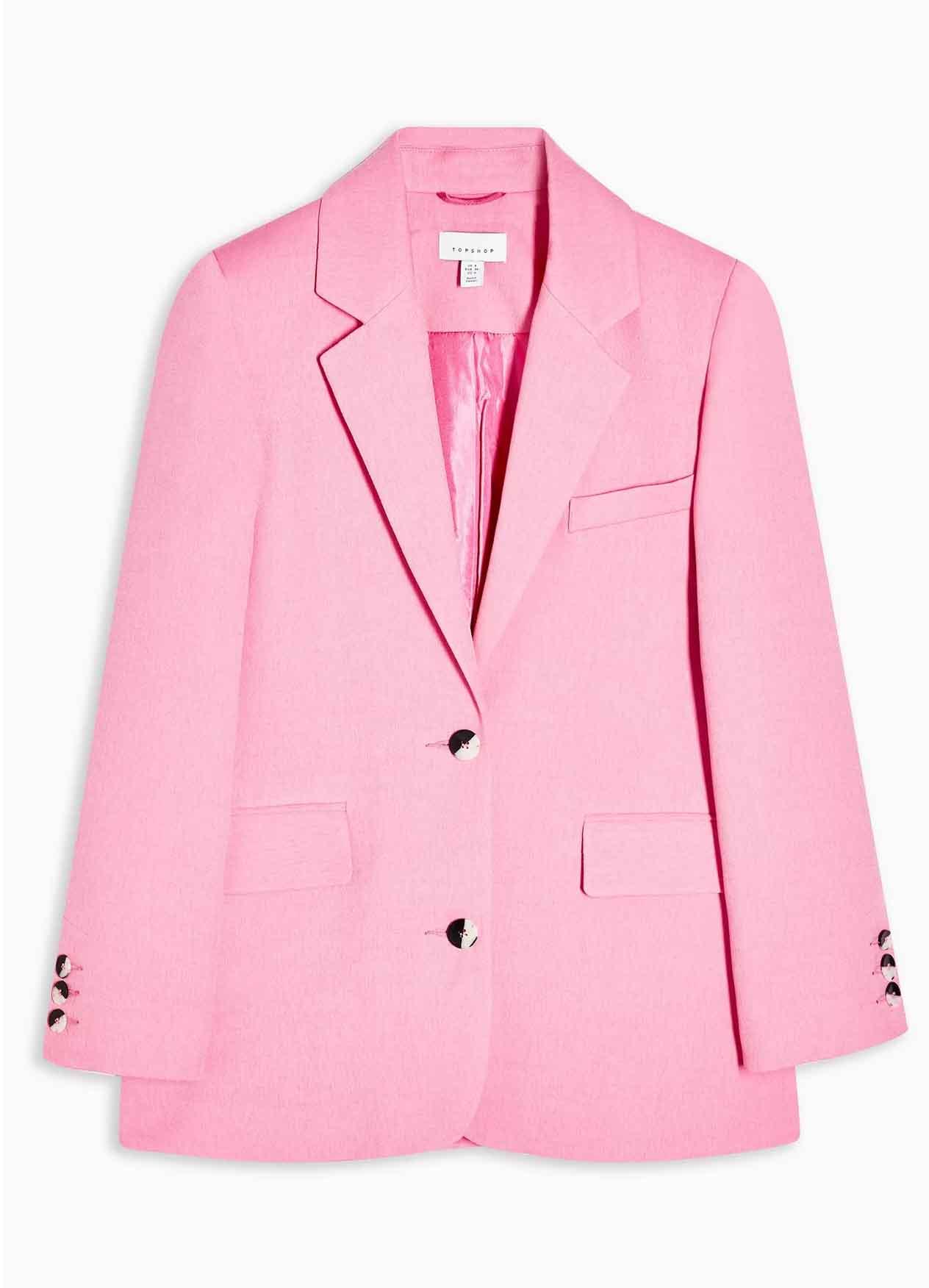 pink oversized blazer